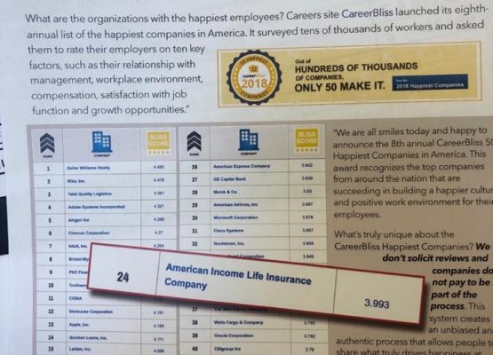 Ranked 24th Company to Work For in Forbes for Career Satisfaction